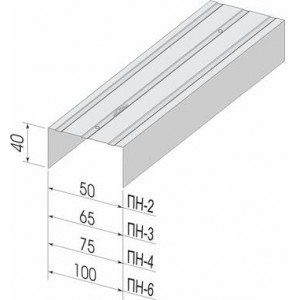 Профиль направляющий ПН-6 100х40х0