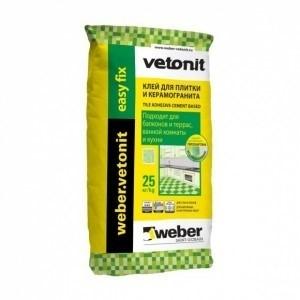 Плиточный клей Вебер Ветонит easy fix 25кг
