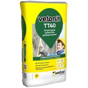 Штукатурка Weber Vetonit TT40