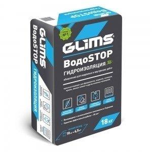 Гидроизоляция обмазочная Глимс (Glims) водостоп 18 кг