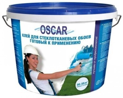 Готовый клей для стеклообоев Оскар 10л