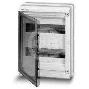 Шкаф АВВ для скрытой установки на 24(28) модулей прозрачная дверь