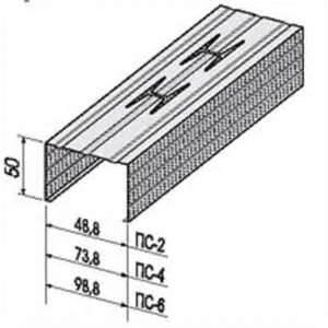 Профиль стоечный ПС-2 50х50х0