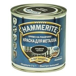 Краска по металлу Хамерайт (Hammerite) чёрная полуматовая 2