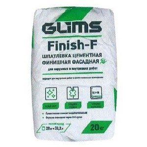 Шпатлевка фасадная Глимс Финиш-Ф (GLIMS Finish-F) 20 кг