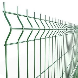 Забор металлический 3Д Ф4мм панель 2030х2500мм зеленый 6005
