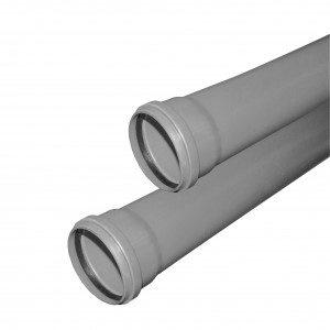 Труба Valfex Base ф 50 с раструбом L=1 м (10) для внутренней канализации