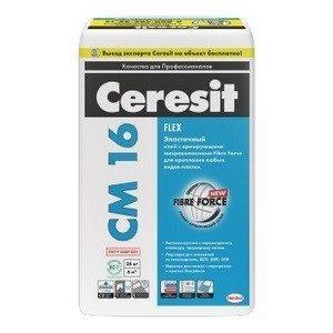 Клей для плитки Церезит CM16 высокоэластичный 25кг