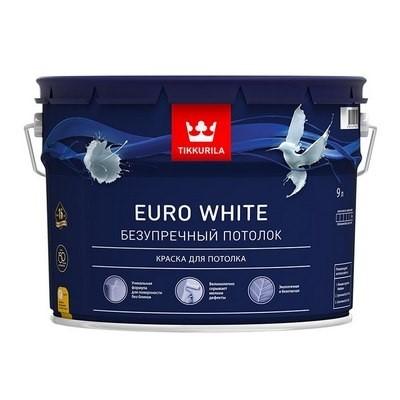 Тиккурила EURO WHITE 9л (1) Краска белая для потолков