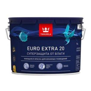 Тиккурила ЕВРО ЭКСТРА-20  9л (1) Краска моющаяся для влажных помещений
