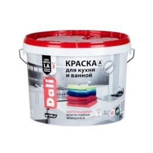 Краска DALI водно-дисперсионные для кухни и ванной 9л С бесцветная