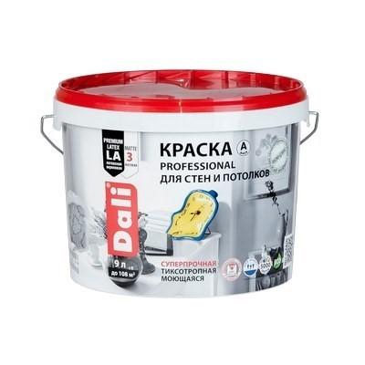 Краска DALI Professional для стен и потолков 9л С (бесцв) ВДАК