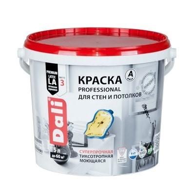 Краска DALI водно-дисперсионные Professional для стен и потолков 5л С бесцветная