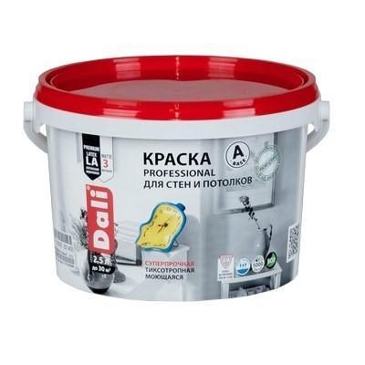 Краска DALI водно-дисперсионные Professional для стен и потолков 2