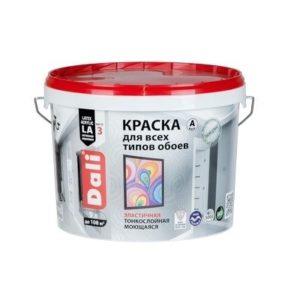 Краска DALI водно-дисперсионные для обоев 9л С бесцветная