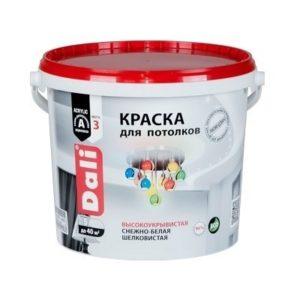 Краска DALI водно-дисперсионные для потолка 5л белая 96%