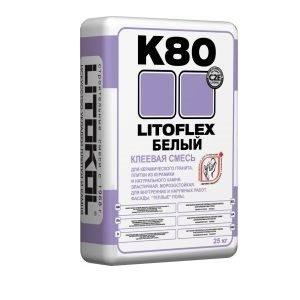 Плиточный клей Литофлекс К80 Литофлекс 25кг белый