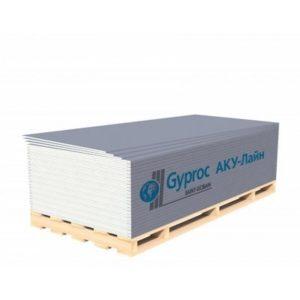 Гипсокартон Gyproc Aku-Line 2500x1200x12