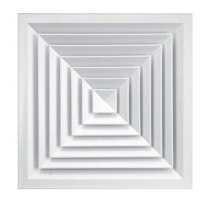 Решетка вентиляционная диффузорная АЛЬФА 600x600мм