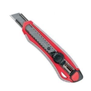 Нож малярный Зубр 18 мм механический фиксатор  09158