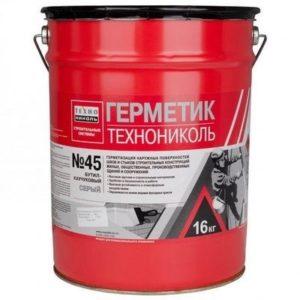 Герметик для межпанельных ТехноНИКОЛЬ 45 бутилкаучуковый 16кг серый
