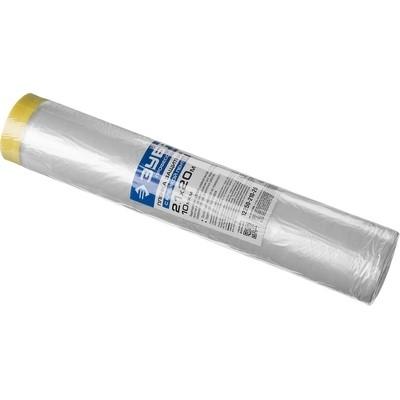 Пленка защитная ЗУБР 10мкм с малярной лентой (24х20)м 12250-240-20