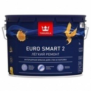 Тиккурила EURO SMART 2 для стен и потолков 9 л