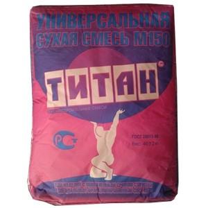 Сухая смесь М150 универсальная Титан 40 кг