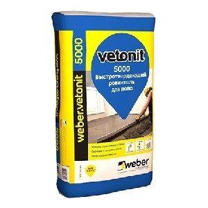 Стяжка для пола Ветонит 5000  Weber Vetonit 25кг